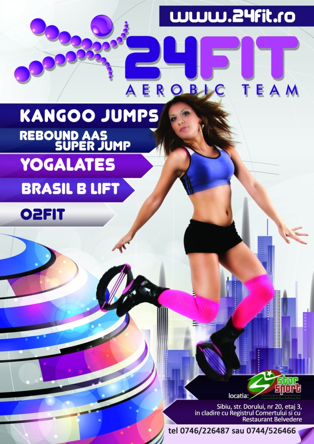 Kangoo Jumps 24FIT Sibiu Silvia si Paul Super Jump